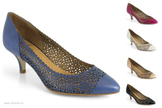 Zapatos de salón de la marca de Elche Mikaela con puntera