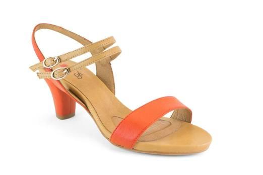 Sandalias de color naranja de Mikaela (Elche)