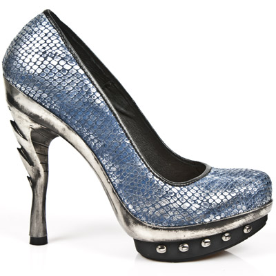 Zapatos de New Rock de piel de pitón
