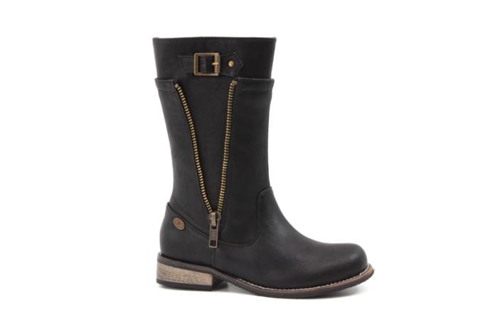 Botas de color negro con cremallera de la marca de calzado Drastik