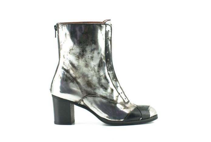 Botas metalizadas de la marca de zapatos Ras Shoes