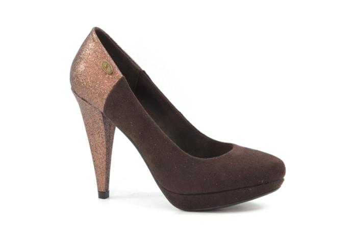 Zapatos de salón de la firma de calzado de Elche Drastik con un toque de Grease (brillantina)