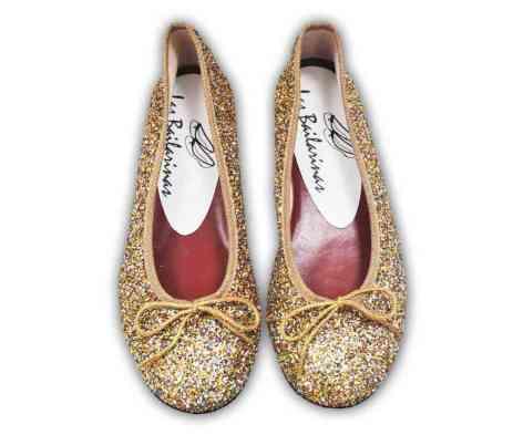 Bailarinas de brillantina (Glitter) con reminiscencias de los mágicos zapatos de Dorita