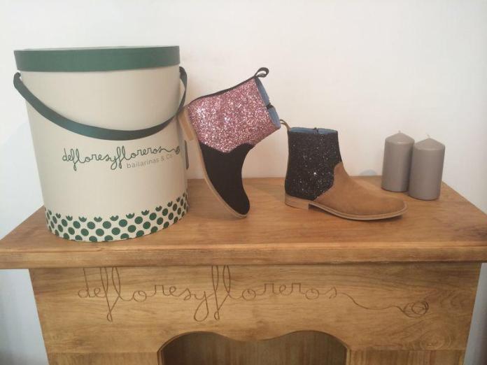 Botas con brillantina de la nueva colección de la marca