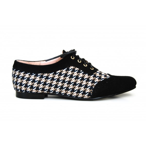 zapatos derby pata de gallo martina blue