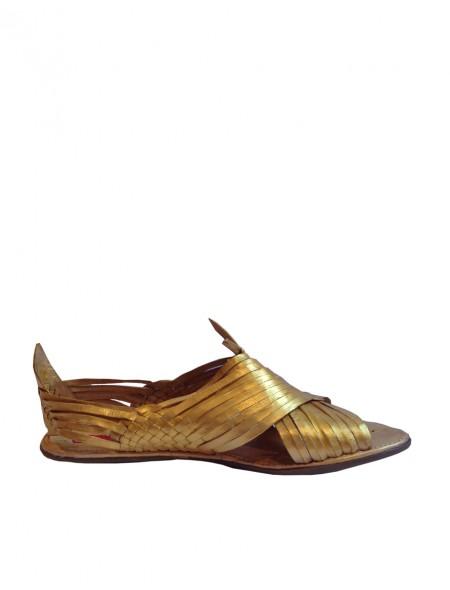 Originales gladiadoras fabricadas en Mexico en dorado zapato señora