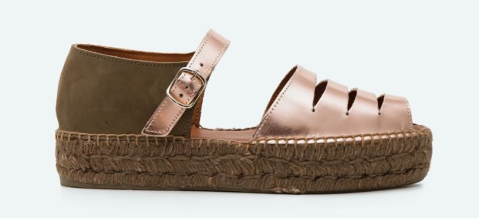 Alpargatas de piso trenzado de la marca de calzado de señora Naguisa