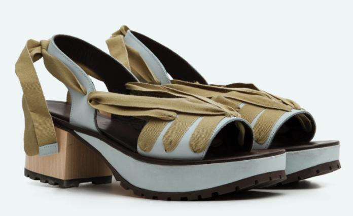 Sandalia de cintas de la nueva colección de Naguisa