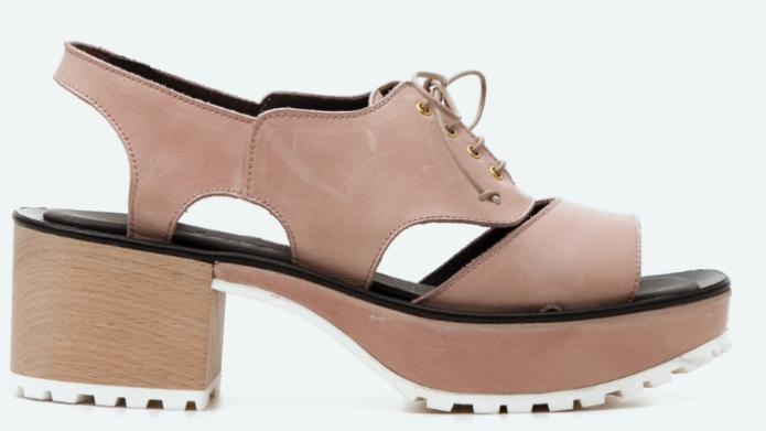 Sandalia estilo Oxford de la marca de zapatos Naguisa
