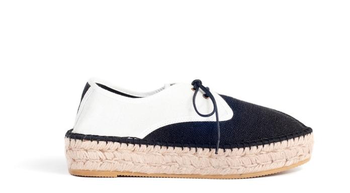Zapatos con cordones y plataforma de yute de la marca Kameleonik